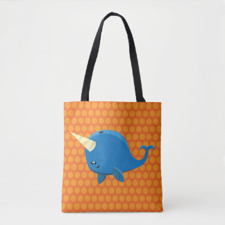 Floating Narwhal -Tote Bag