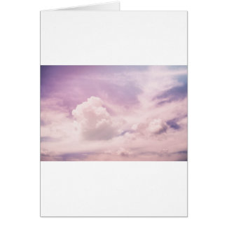 Floating on Fluffy Purple Clouds Card