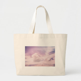 Floating on Fluffy Purple Clouds Large Tote Bag