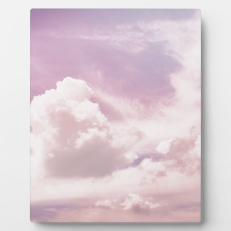 Floating on Fluffy Purple Clouds Plaque