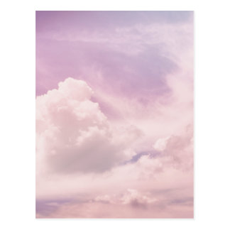 Floating on Fluffy Purple Clouds Postcard