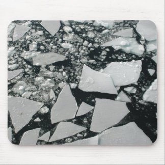 Floating Pieces of Broken Arctic Ice Mouse Pad