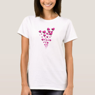 Floating Pink Hearts T-Shirt