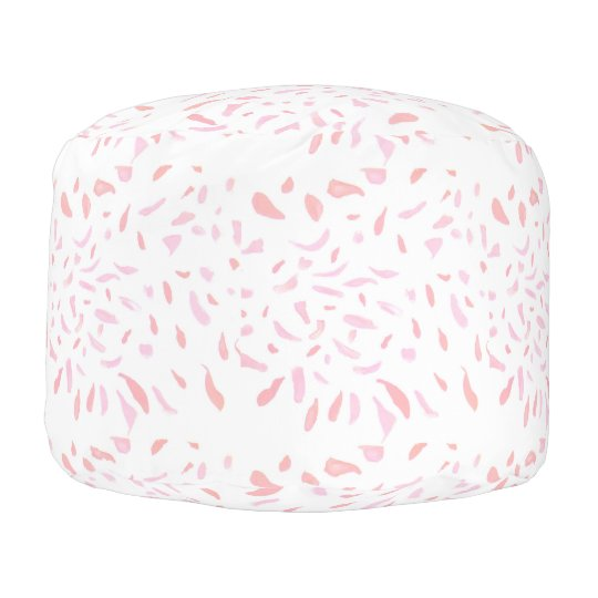 Floating  Pink Petals Pouf