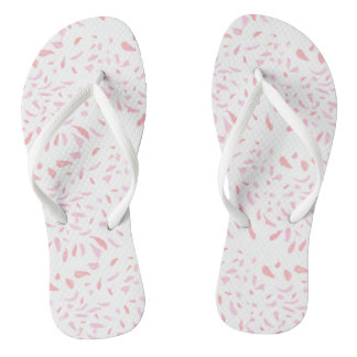 Floating  Pink Petals Womens Flip Flops