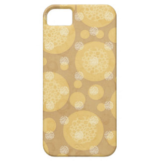 Floating Polka Dots Cream and Light Brown Case For The iPhone 5