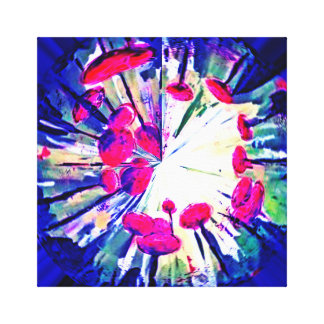 Floating Pompoms♥ Canvas Print