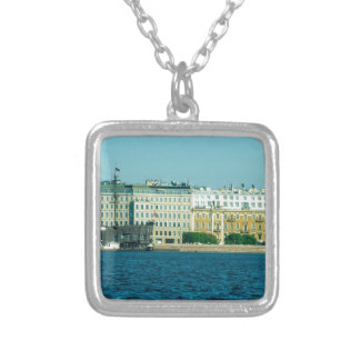 Floating restaurant Flying Dutchman Spa Ship Silver Plated Necklace