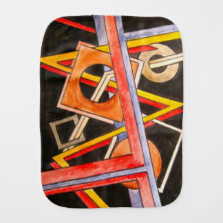 Floating Shapes-Abstract Art Geometric Burp Cloth