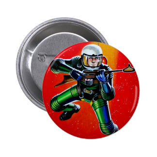 FLOATING SPACEMAN 2 INCH ROUND BUTTON