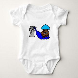 Floating Spray Paint Guy Baby Bodysuit