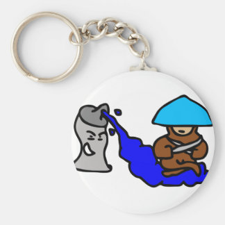 Floating Spray Paint Guy Keychain