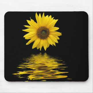 Floating sunflower mouse pad