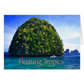 Floating Tropical Islands Card