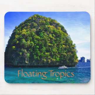 Floating Tropical Islands Mouse Pad