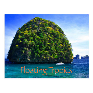 Floating Tropical Islands Postcard
