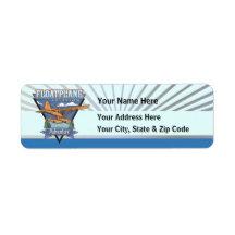 Floatplane Aviation Adventure Custom Return Address Labels