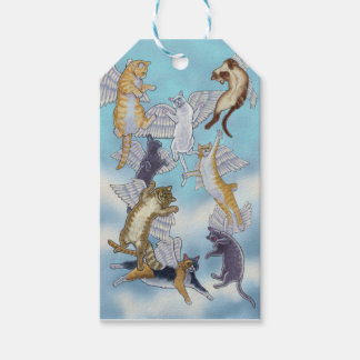 Flock of Angel Cats by Rachel Armington Pack Of Gift Tags