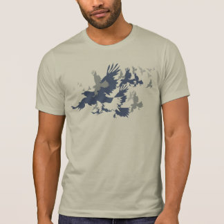 Flock Of Birds Silhouette Tshirt