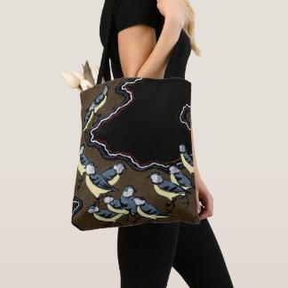 Flock of Blue Jays Tote Bag