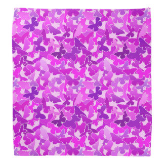 Flock of Butterflies, Amethyst, Violet and Orchid Bandana