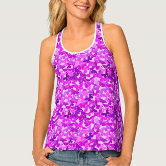 Flock of Butterflies, Amethyst, Violet and Orchid Tank Top