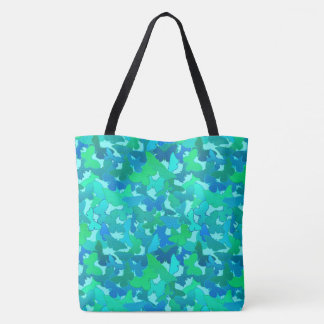 Flock of Butterflies,Turquoise, Aqua and Sky Blue Tote Bag