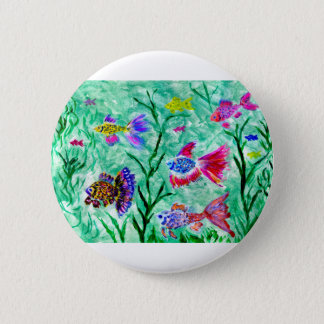 Flock of Fish Art 2 Inch Round Button