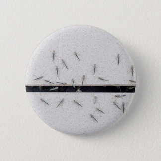 Flock of mosquitoes that enter the room 2 inch round button