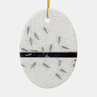 Flock of mosquitoes that enter the room ceramic ornament