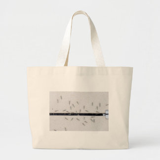 Flock of mosquitoes that enter the room large tote bag