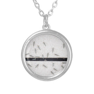 Flock of mosquitoes that enter the room silver plated necklace