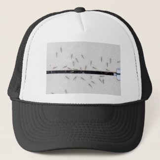 Flock of mosquitoes that enter the room trucker hat