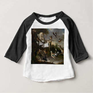 Flock of musical birds painting baby T-Shirt