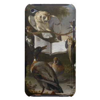 Flock of musical birds painting barely there iPod cases