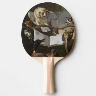 Flock of musical birds painting Ping-Pong paddle