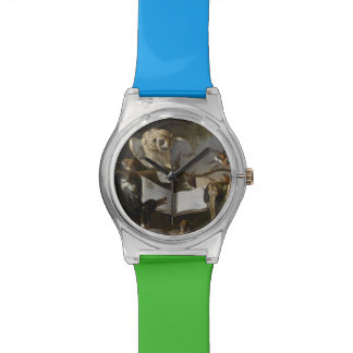 Flock of musical birds painting wristwatches