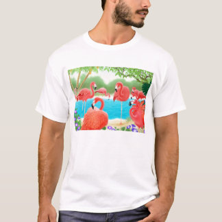 Flock of Pink Flamingos T-Shirt