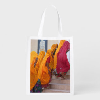 Flock of Rajasthani Women Reusable Grocery Bag