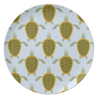 Flock Of Sea Turtles Pattern Party Plates