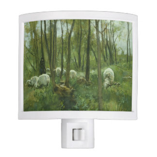 Flock of sheep in a forest, Anton Mauve Nite Light
