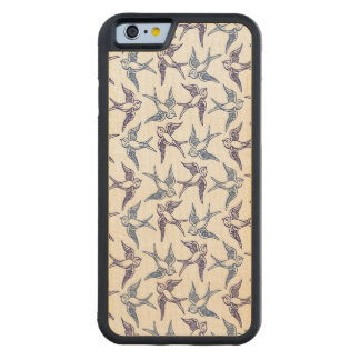 Flock of Sketched Birds Carved Maple iPhone 6 Bumper Case