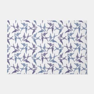 Flock of Sketched Birds Doormat