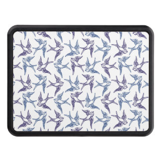 Flock of Sketched Birds Trailer Hitch Cover