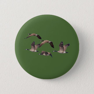 Flock of wild geese 2 inch round button