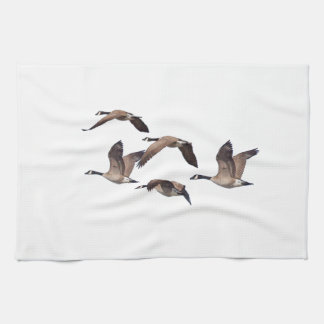 Flock of wild geese kitchen towel