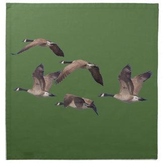 Flock of wild geese napkin