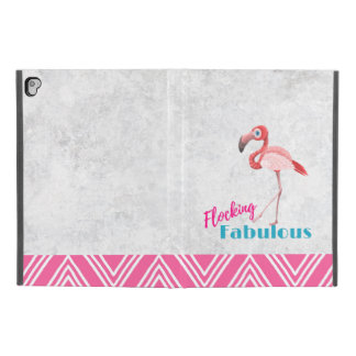 "Flocking Fabulous Pun w/ Pink Flamingo iPad Pro 9.7"" Case"