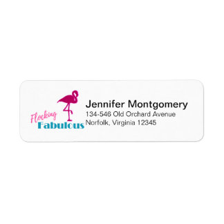 Flocking Fabulous Typography w/ Pink Flamingo