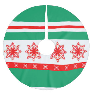 flocon brushed polyester tree skirt